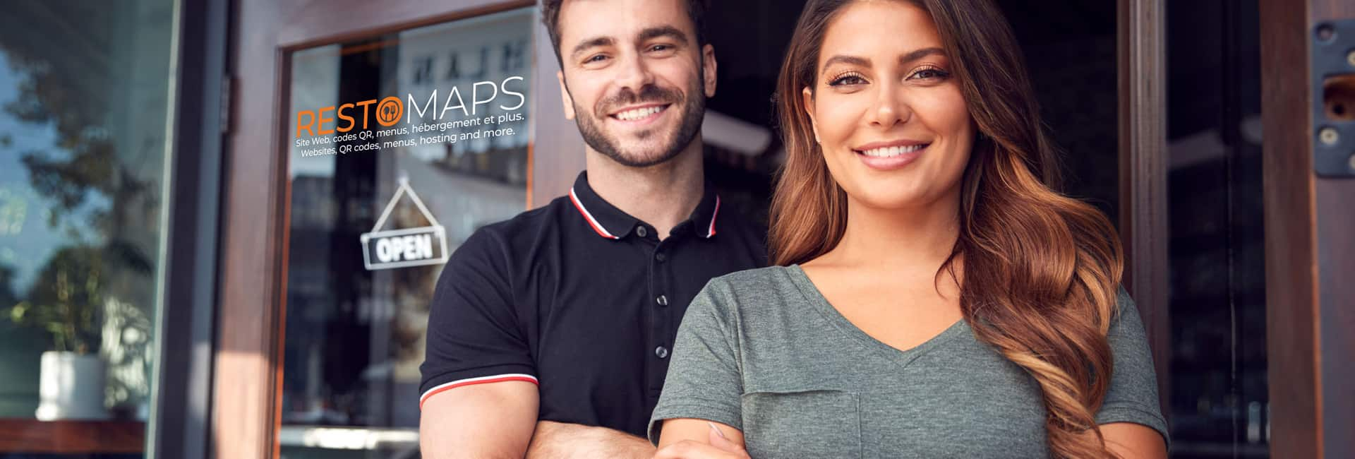 Portrait Of Couple Starting New Coffee Shop Or Restaurant Busine
